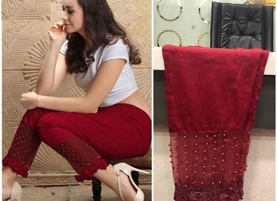 Pearl Designer Cigarette Pants