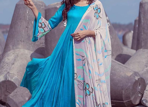 Long Rayon Gown