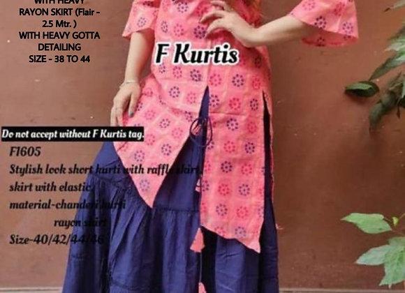 Kurti With Skirt
