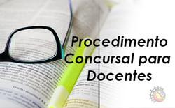 procedimento concursal docentes