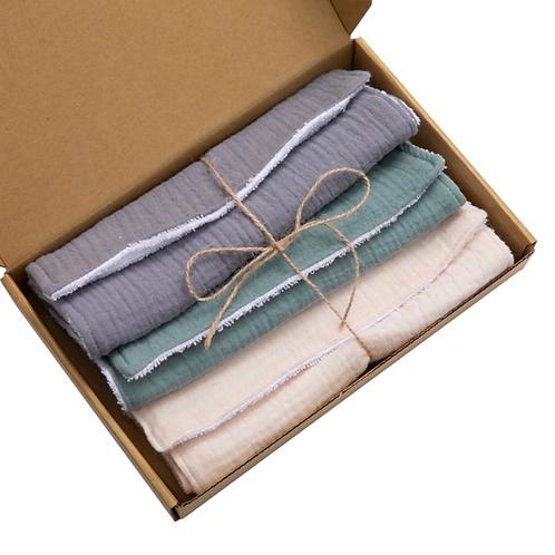 pièces serviette d'alimentation bébé doux gaze serviette de bain nouveau-né sali