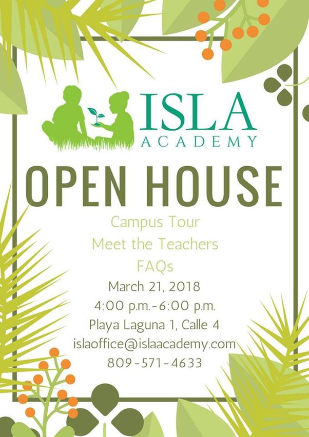 Open House March 21st, 2018