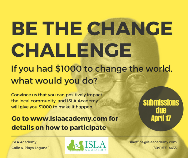 Be the Change Challenge - Writing Competition