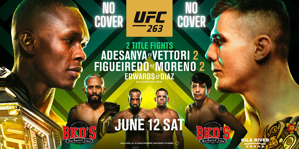 UFC 263 No Cover Fight Night