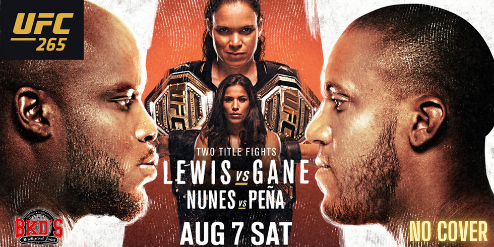 UFC 265 No Cover Fight Night at BKD'S