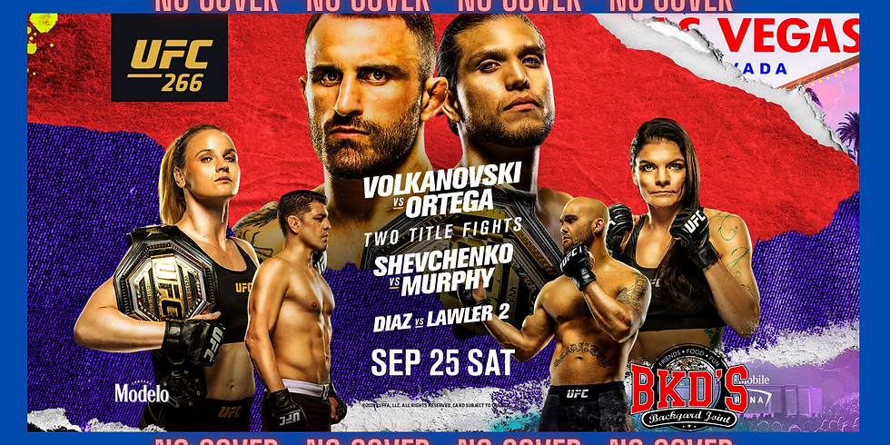 UFC 266 No Cover Fight Night