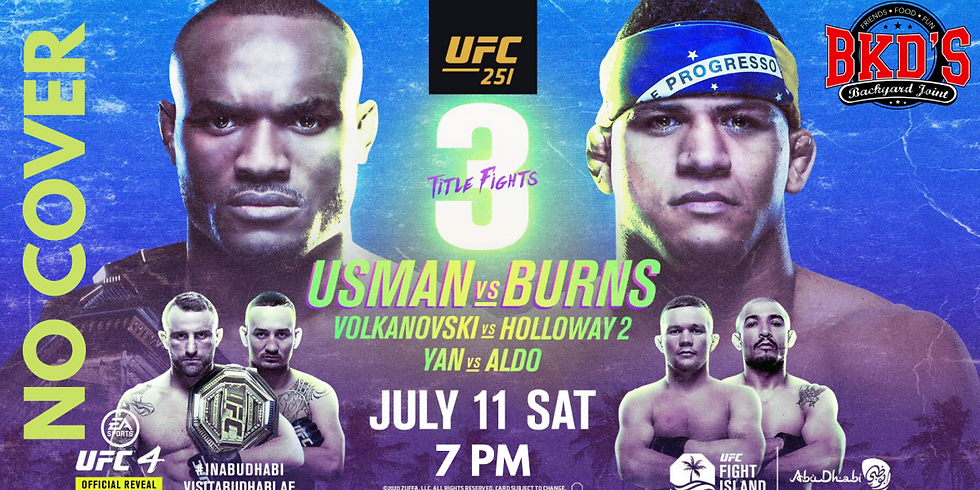 UFC 251 No Cover Fight Night at BKD'S