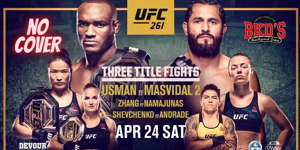 UFC 261 No Cover Fight Night