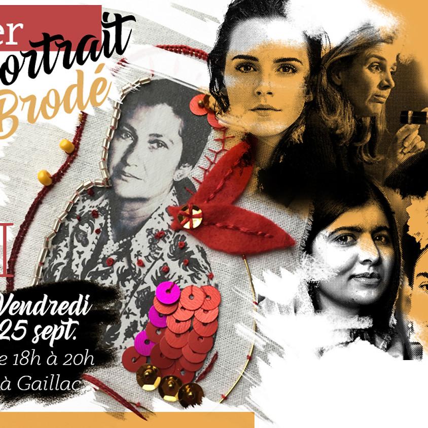 Atelier Portrait brodé Femmes inspirantes - 25/09/20 - 30 euros