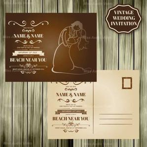 retro-wedding-card-wood-design_23-214749