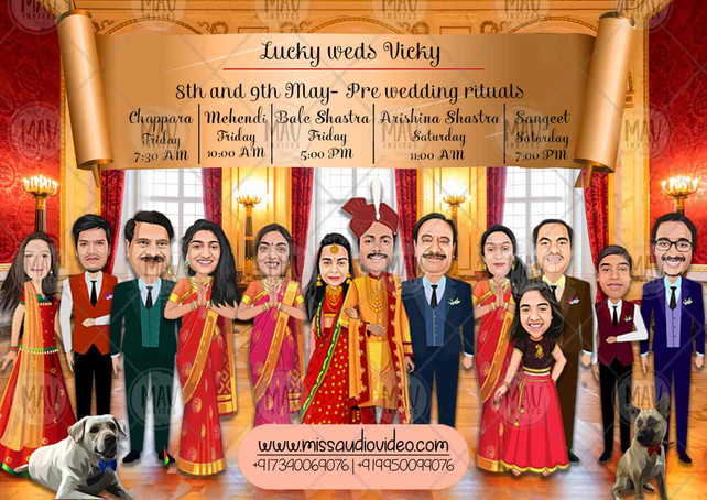 Caricature Family Portrait