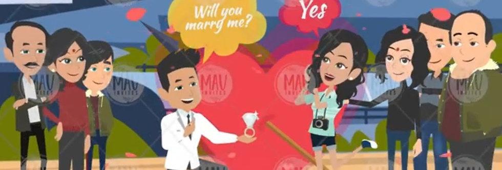 Caricature Cartoonistic new Personalized Wedding invitations 4 |Cartoon Animated