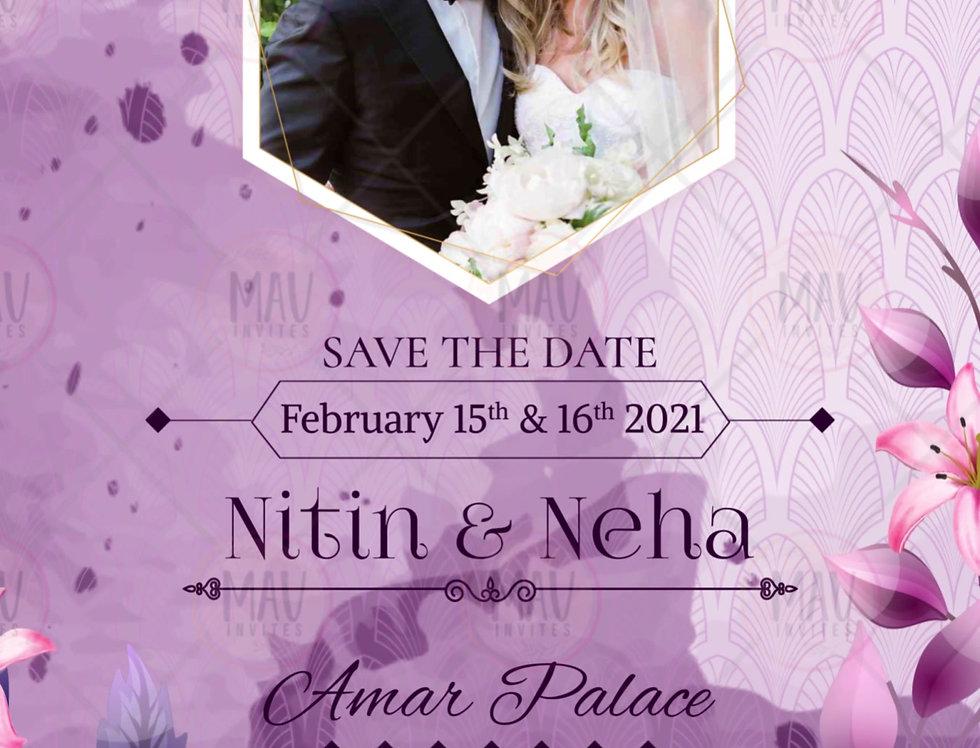 MV102 Vertical Wedding Invitation Video | Indian Wedding Invitation Video