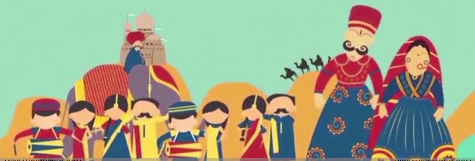Unique Ethnic-Desi theme based Wedding invitation | Animated Wedding Invitation