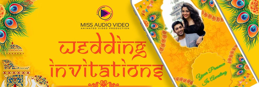 Rajasthani Theme based vertical Video Wedding Invitation - four Page Video Inv