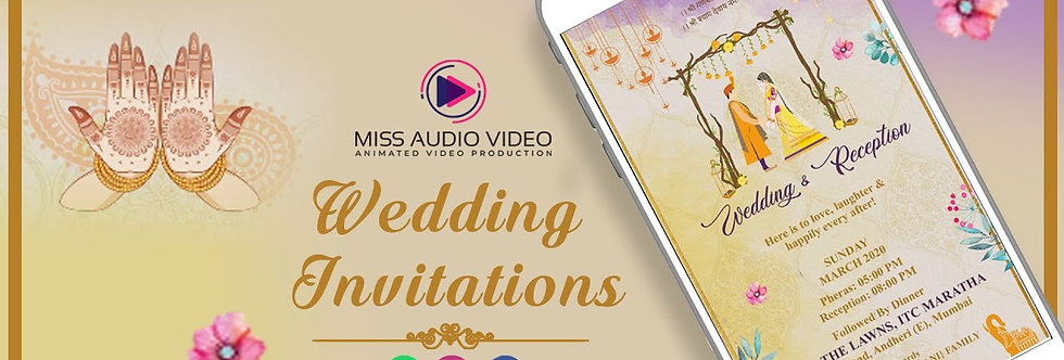 Colourful floral Indian Wedding Theme based vertical Video Whatsapp Wedding Invi