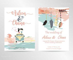 Cartoon Wedding Ecard
