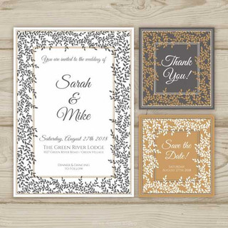 wedding-cards-collection-with-ornaments_
