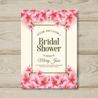 realistic-flowers-bridal-shower-card-tem