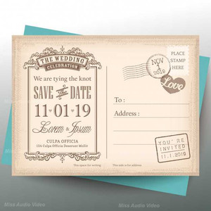 vintage-postcard-for-a-wedding-invitatio
