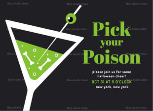 Bachelor Party Poison Picked Up Theme Invitation