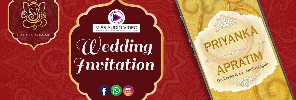 Indian Wedding Invitation For Whatsapp | Traditional Wedding Announcements