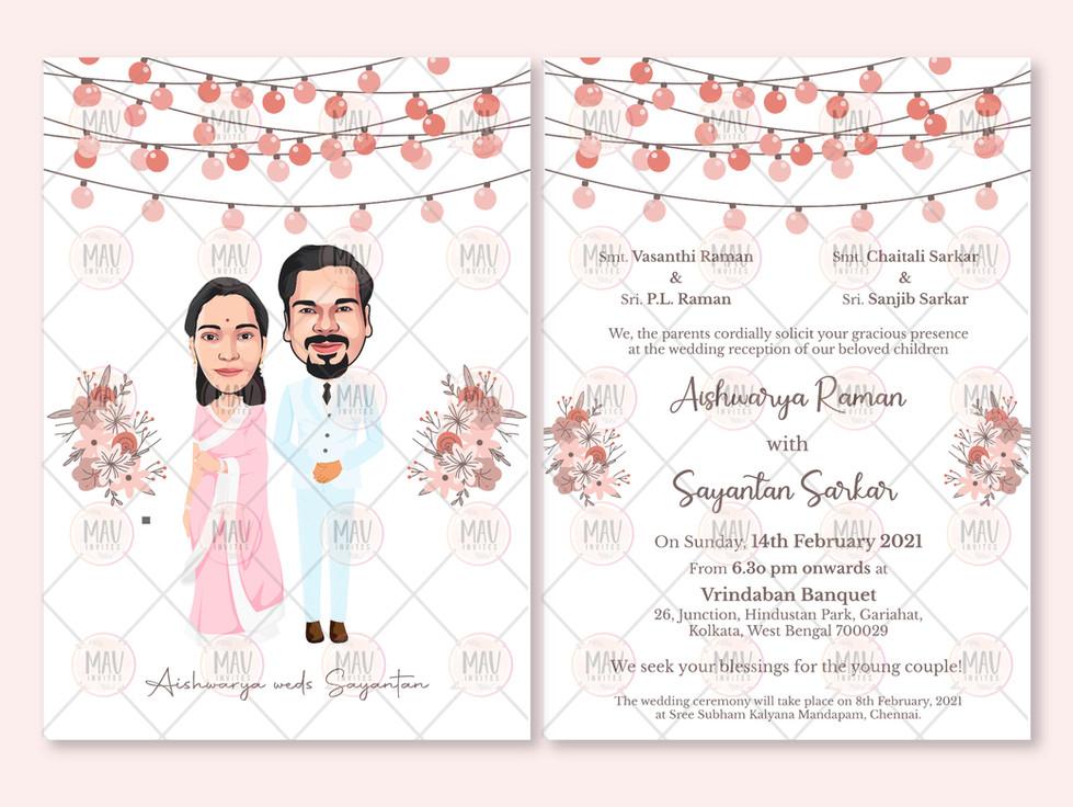 Marriage Caricature E Card