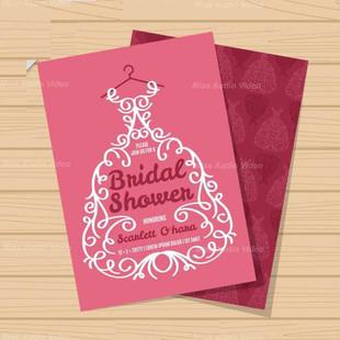 Bridal Shower Invitation With Ornamental