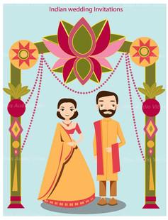 Indian Wedding Couple Ecard
