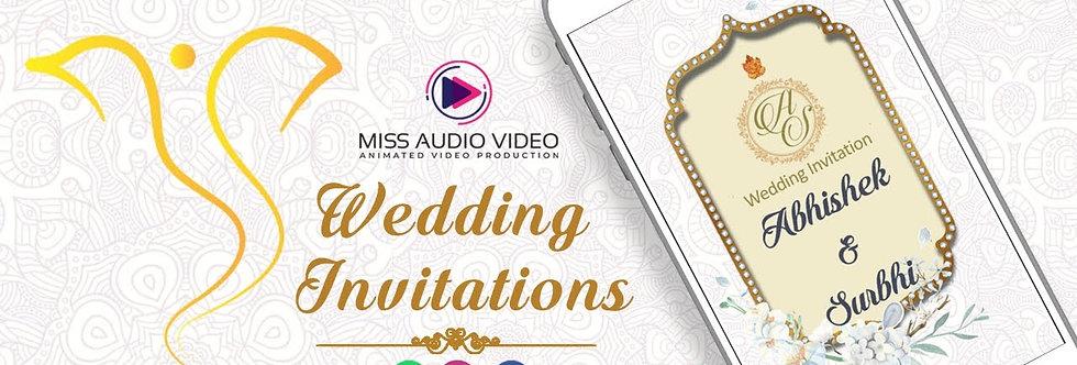Ganpati theme based vertical Video Wedding Invitation - four Page Video Invitate