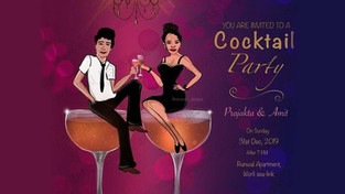Cocktail Caricature Cards Online