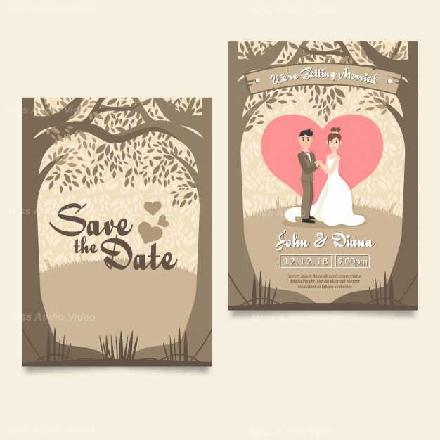 lovely-wedding-card-with-couple-and-tree