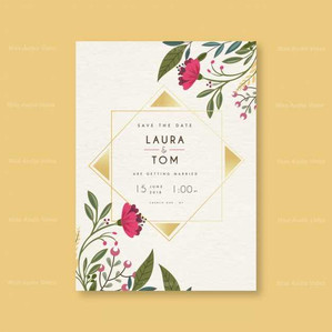 save-the-date-card-with-flowers-and-orna