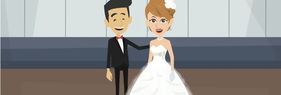 Save the Date Cartoon Wedding invitations | Cartoon Animated Video Wedding Inv