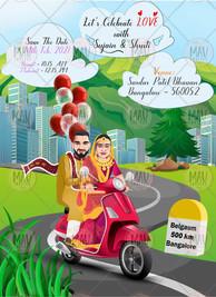 Wedding Invitation Caricature Design