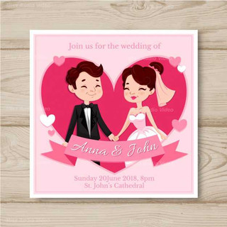 wedding-card-invitation-with-couple-in-h