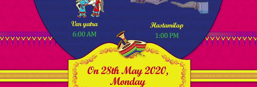 Save-the-date Rajasthani theme based invitation| Animated Wedding Invitation