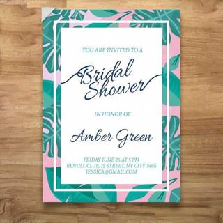 bridal-shower-invitation-with-green-leav