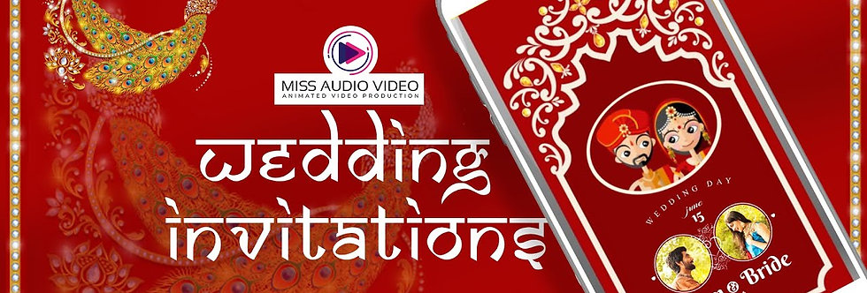 Hindu Red Wedding Theme based vertical Video Whatsapp Wedding Invitation - four