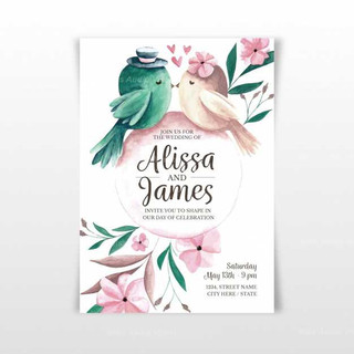 watercolour-wedding-invitation-with-bird