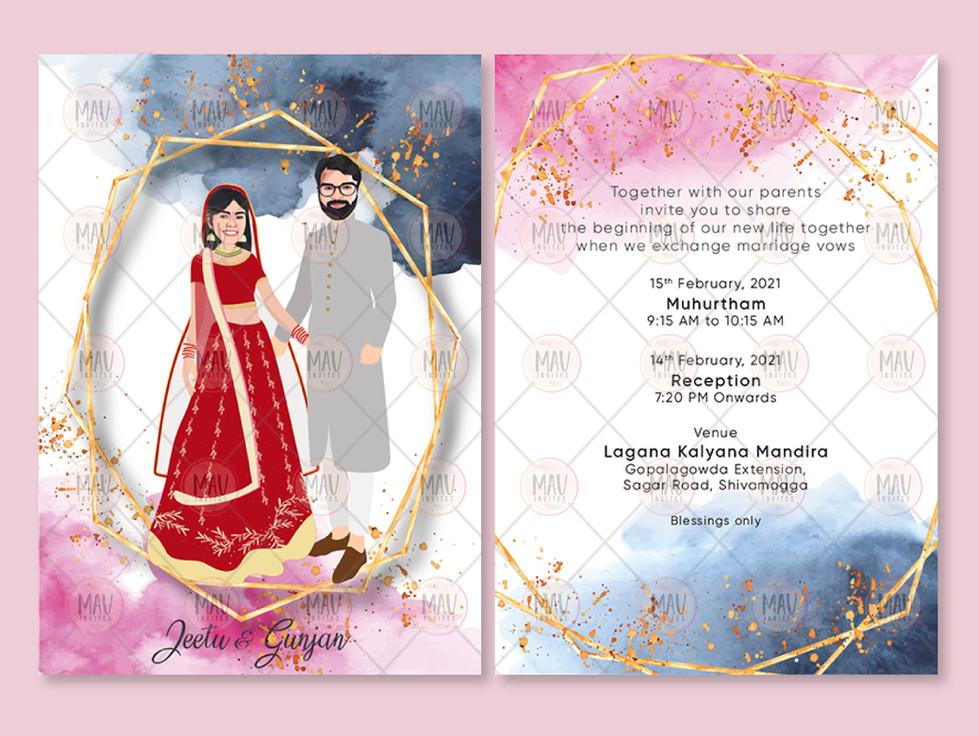 Caricature Catoon Wedding Invitations