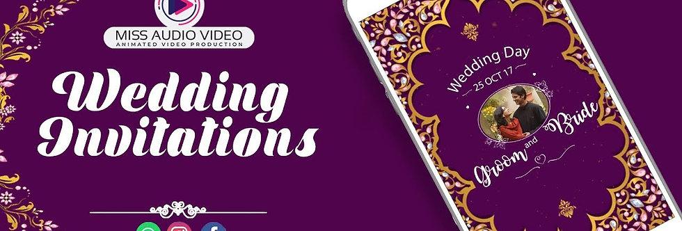 Wedding Reception E-invitation card - vertical Video Whatsapp Wedding Invitation