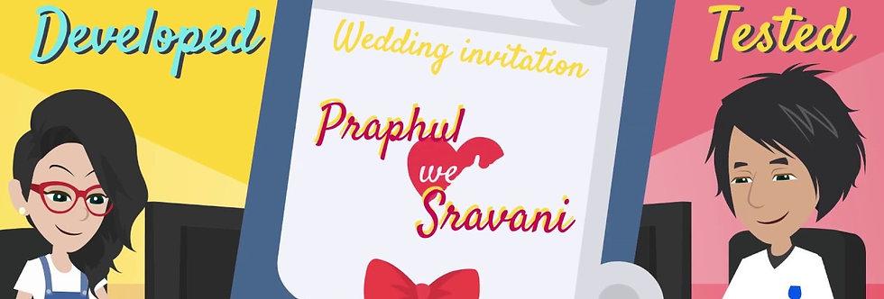 Indian Caricature Cartoon Wedding Invitations | Cartoon Animated Video Wedding