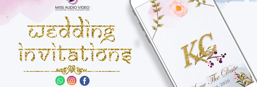 Latest Modern Designed theme based vertical Video Whatsapp Wedding Invitation
