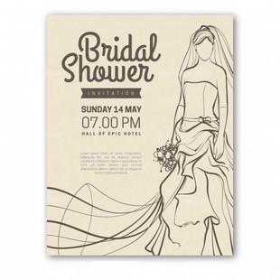 vintage Bridal Shower Invitation With Bride