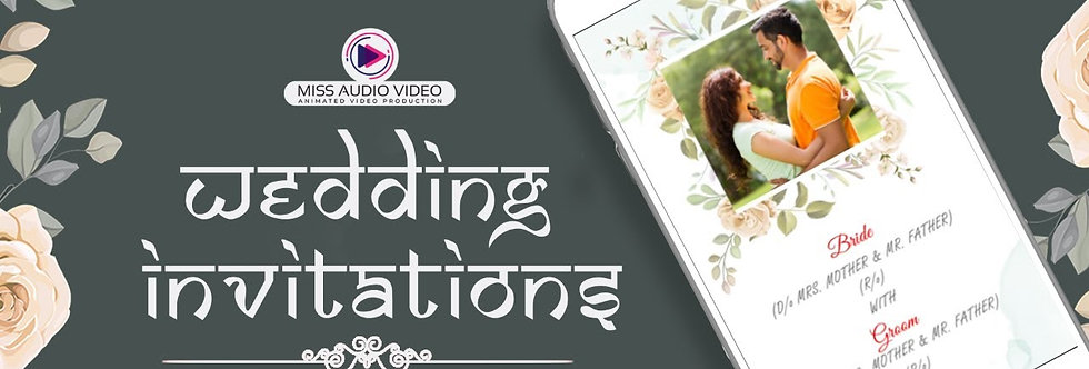 Modern English Theme based vertical Video Wedding Invitation - four Page Video