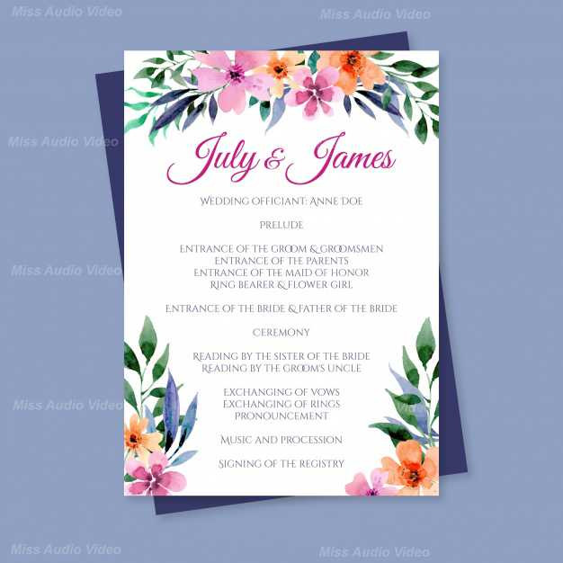 lovely-wedding-program-with-watercolor-f
