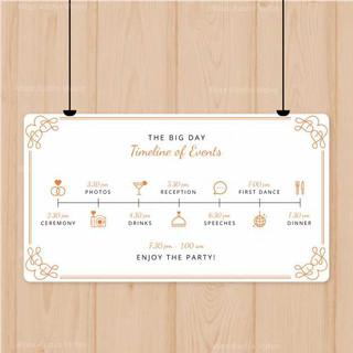 lovely-wedding-program-with-flat-design_
