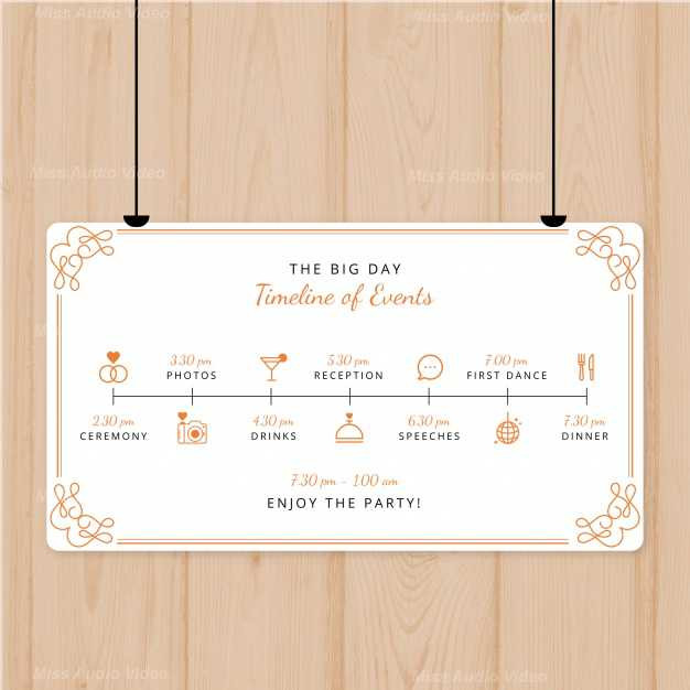 lovely-wedding-program-with-flat-design_
