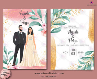 Caricature for Wedding Reception